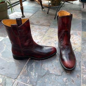 Frye Jet Roper Boots | Plum Brush-Off, Size 9.5